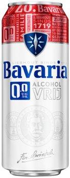 Упаковка пива Bavaria безалкогольное светлое фильтрованное 0.0% 0.5 л x 12 шт (8714800024884)