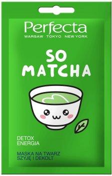 Детокс-маска для лица Perfecta So Matcha Face Mask с матчей 10 мл (5900525054210)