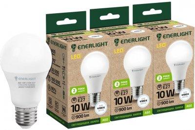 Светодиодная лампа Enerlight A60 10W 4100K E27 3 шт (A60E2710SMDNFRS)