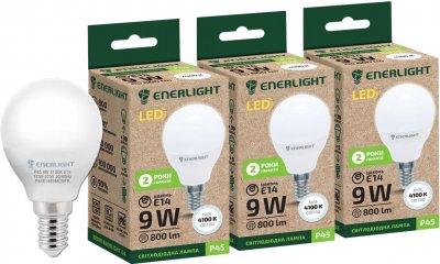 Светодиодная лампа Enerlight P45 9W 4100K E14 3 шт (P45E149SMDNFRS)