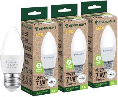 Світлодіодна лампа Enerlight С37 7 W 4100 K E27 3 шт. (C37E277SMDNFRS)