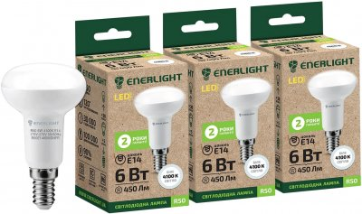 Світлодіодна лампа Enerlight R50 6W 4100K E14 3 шт (R50E146SMDNFRS)