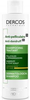 Шампунь Vichy Dercos проти лупи посиленої дії для сухого волосся 200 мл (3337871330262)