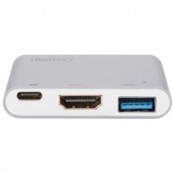 Переходник Type-C to HDMI/USB 3.0/Type-C DIGITUS (DA-70838-1)