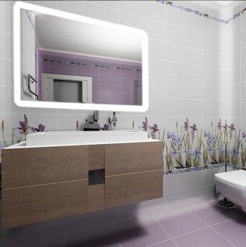 Зеркало в ванную с LED-подсветкой StudioGlass 6-23 80x50 см
