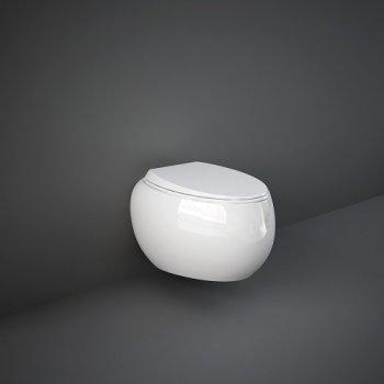 Унитаз Подвесной, Безободковый Rak Ceramics Cloud Clowc1446Awha , Белый Глянец 119209