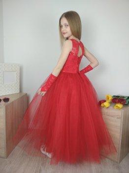 Детское бальное платье I.V.A.moda в пол 30 красный iva-498