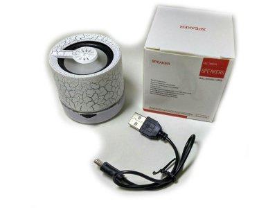 Портативна Bluetooth колонка з підсвічуванням SPS 301C BT White (1001 006594)