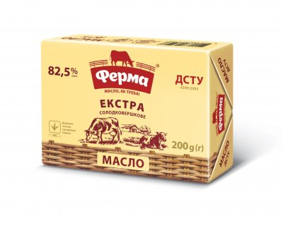 Масло Ферма екстра 82,5% 200г