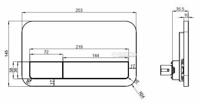 Панель смыва VILLEROY&BOCH 92249061 ViConnect E200