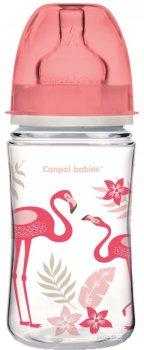 Бутылочка Canpol babies EasyStart с широким отверстием антиколиковая PP-Jungle коралловая 240 мл (35/227_cor)