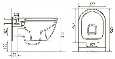 Унітаз підвісний VOLLE Solar Rimless 13-93-363 + сидіння Slim Soft Close