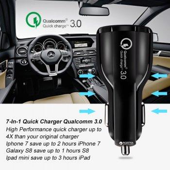 Автомобільний зарядний пристрій XoKo CQC-200 2USB Qualcom 3.0 6A White (CQC-200-WH)