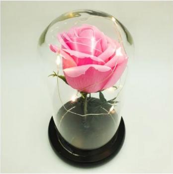Ночник Роза в колбе с LED-подсветкой CH210205