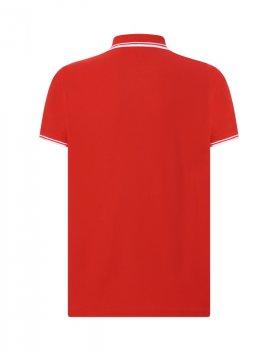 Чоловіча сорочка-поло JHK POLO REGULAR CONTRAST, червона