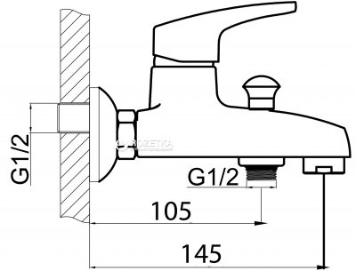 Смеситель для ванны Silver БЛИЦ SLBN2035z