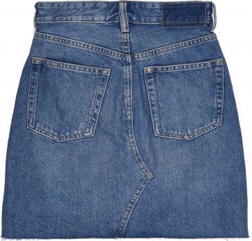 Юбка джинсовая H&M 53987883 Светло-синяя