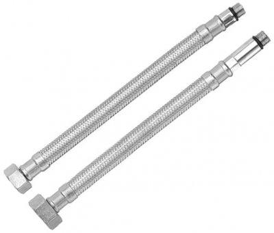 """Комплект шлангів для змішувача RUBINETA M10x1/2"""" 100 см (довга/коротка голка) 617100"""