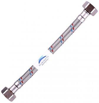 """Шланг водопровідний RUBINETA 1/2""""x1/2"""" 20 см В-В гнучкий 610020"""