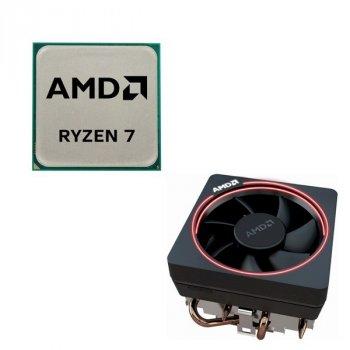 Процессор AMD AM4 Ryzen 7 2700X 8-cores 3.7-4.3GHz YD270XBGAFMPK 105W Socket AM4 Tray+кулер