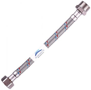 """Шланг водопровідний RUBINETA 1/2""""x1/2"""" 90 см В-З гнучкий 611090"""