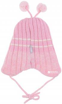 Демисезонная шапка с завязками Lenne Brate 18370/176 46 см Розовая (4741578205447)