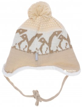 Зимняя шапка с завязками Lenne Enel 18373/505 48 см Бежевая (4741578206048)