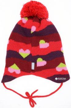 Зимняя шапка с завязками Lenne Nelle 18378A/613 46 см Красная (4741578206956)