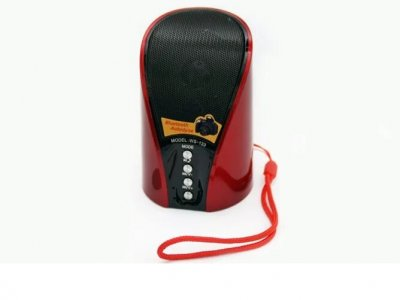 Беспроводная Bluetooth колонка WSTER WS-133BT Красная/Черная (3167)