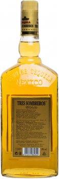 Текила Tres Sombreros Голд 38% 1 л (8414771862644)