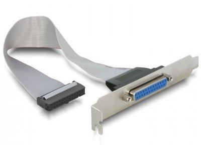 Планка корпусна Delock LPT DB25-PinHeader (планка) 0.22m 25pin Slotbracket Parallel сірий(70.08.4300)