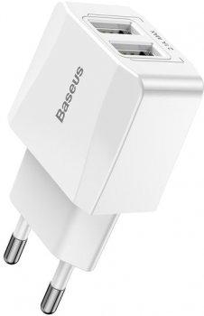 Зарядное устройство Baseus Mini Dual-U Charger 2.1 A (CCALL-MN02)