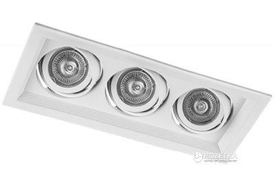 Світильник точковий Feron DLT203 3xGU5.3 150W Білий (2000297727961)
