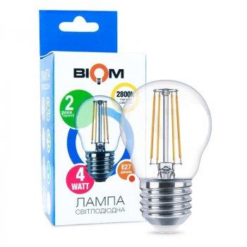 Филаментная лампа BIOM FL-301 4W E27 2800K G45 (Куля)