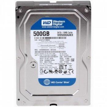 HDD SATA 500GB WD Blue 7200rpm 16MB (WD5000AAKX) Refurbished