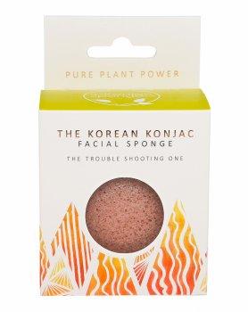 Спонж для особи Konjac sponge з конжака і вулканічної породи Стихія вогню