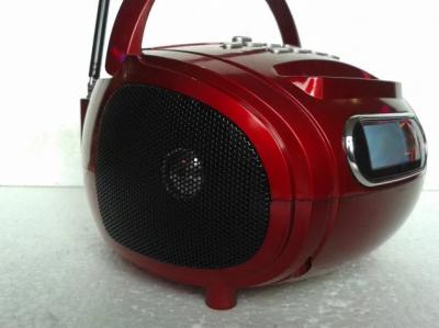 Аккумуляторный радиоприемник колонка с радио и USB выходом в стиле бумбокс Красный Golon (RX-186)