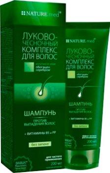 Шампунь для волос NATURE.med Луково-чесночный комплекс 200 мл (4820065531853)