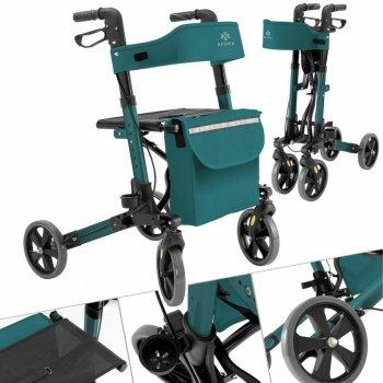 Ролатор Kesser Зеленый, ходунки на колесах для взрослых и инвалидов алюминиевый
