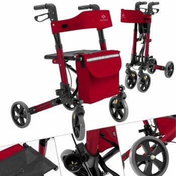 Ролатор Kesser Красный, ходунки на колесах для взрослых и инвалидов алюминиевый