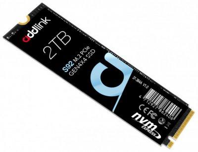 SSD накопичувач AddLink S92 2TB M. 2 2280 PCIe GEN4X4 NVMe QLC (ad2TBS92M2P)