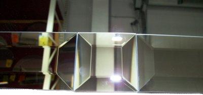Зеркальная плитка UMT 60х60 мм фриз с фацетом 15 мм серебро (ПФС 60-60)