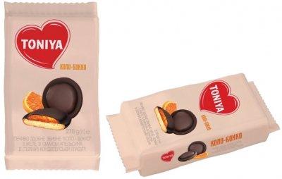 Упаковка печенья Toniya Коло-Бокко со вкусом апельсина 270 г х 18 шт (4820132922447)