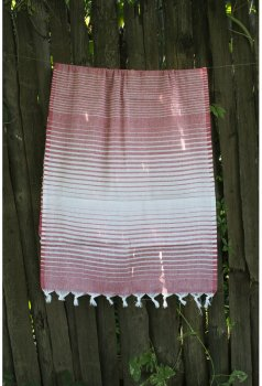 Полотенце Lotus Pestemal Micro stripe Red 02 75x150 см (svk-5054)