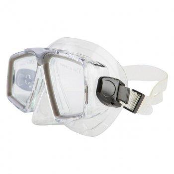 Набор маска с трубкой Dolvor Серый М4204Р+SN07P