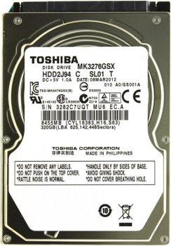 "Жорсткий диск Toshiba 320ГБ 5400об/м 8МБ 2.5"" SATA II (MK3276GSX) Refurbished"