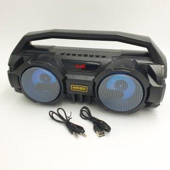 Бумбокс беспроводная колонка аккумуляторная Bluetooth акустическая система USB FM 2х5 Вт Kimiso KM-S2