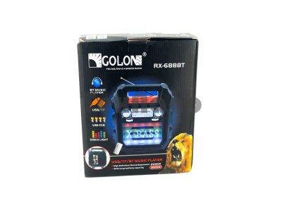 Радіоприймач з блютузам Golon RX 688 BT / USB SD