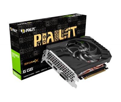 Відеокарта Palit GeForce GTX 1660 Ti StormX 6Gb DDR6 192-bit DVI/HDMI/DP 1770/12000 MHz 8-pin (NE6166T018J9-161F)