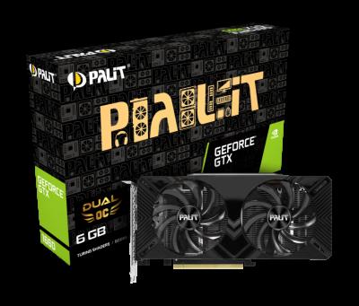 Відеокарта Palit GeForce GTX 1660 Dual OC 6Gb DDR5 192-bit DVI/HDMI/DP 1830/8000 MHz 8-pin (NE51660S18J9-1161A)